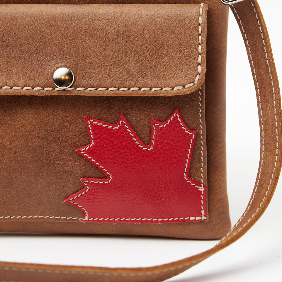 Roots-Leather Handbags-Trans Canada Urban Pouch Tribe-Natural-D