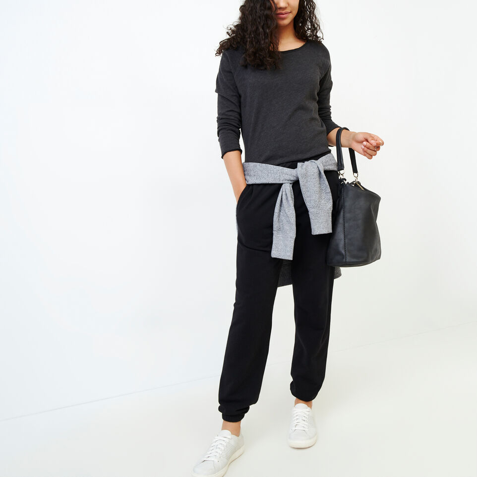 Roots-Women Our Favourite New Arrivals-Original Cozy Sweatpant-Black-B