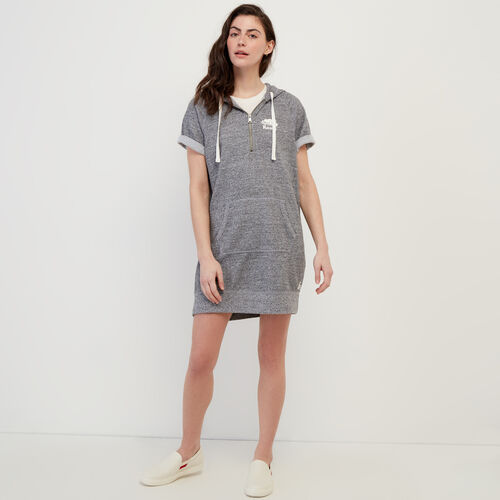 Roots-Sweats Women-Dockside Hooded Dress-Salt & Pepper-A