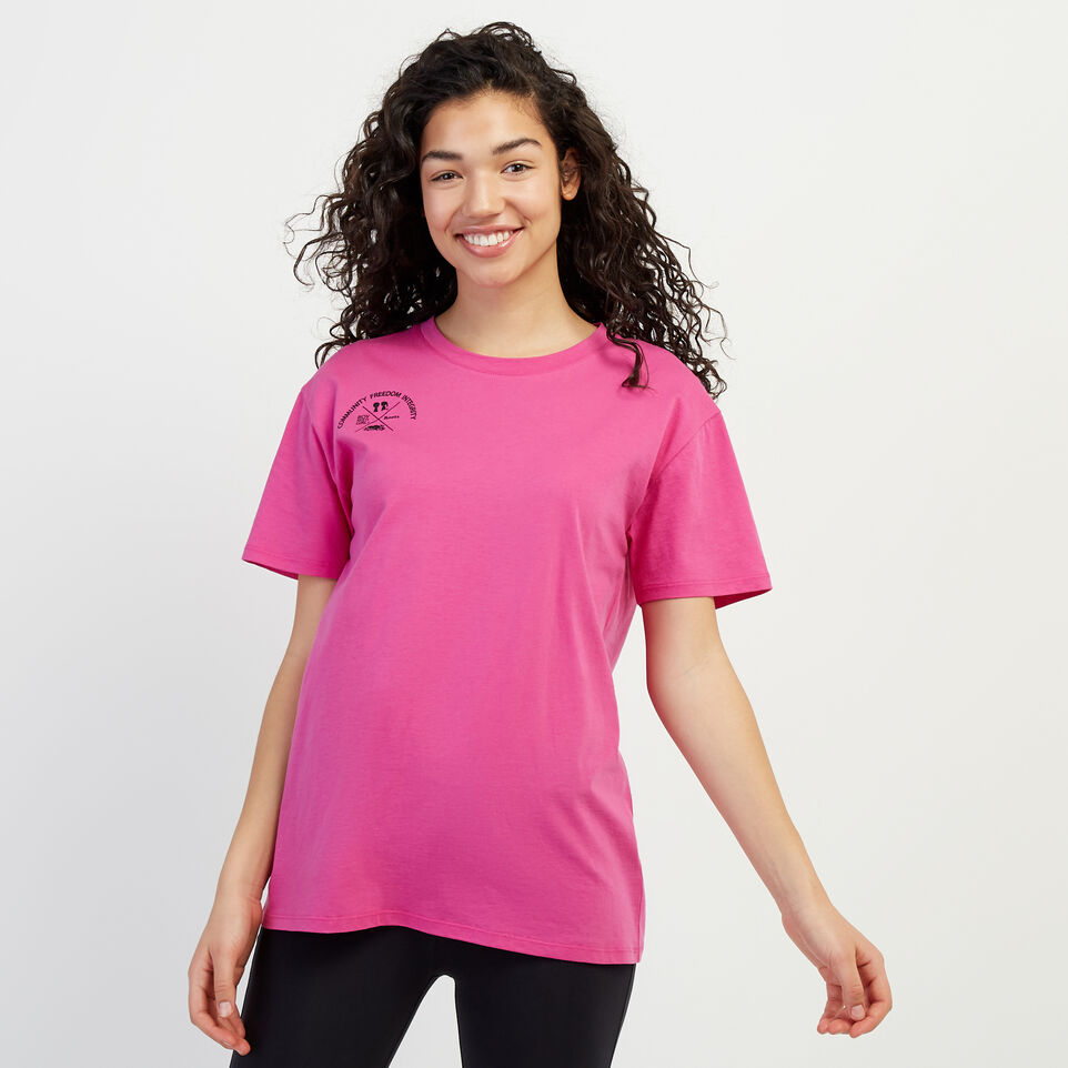 Roots-New For April Roots X Boy Meets Girl-Roots x Boy Meets Girl - Unisex Connected T-shirt-Pink-A
