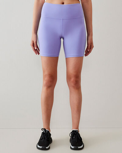 Roots-Women New Arrivals-High Waisted Journey Bike Short 7 In-Wedgewood-A