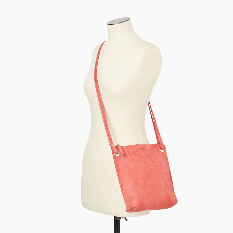 Roots-Leather New Arrivals-Festival Bag-Coral-B