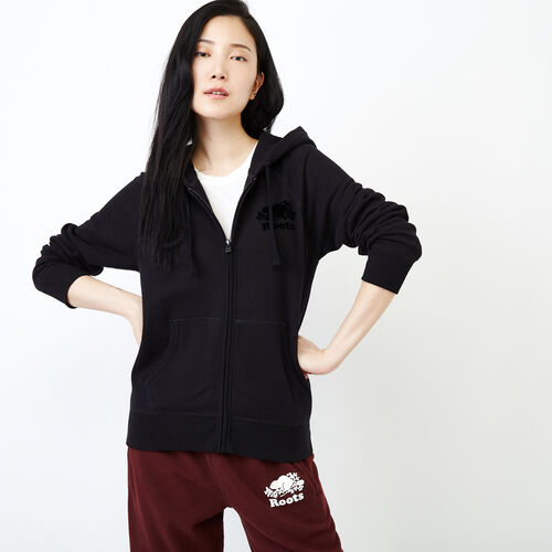 Roots-Women Our Favourite New Arrivals-Original Full Zip Hoody-Black-A