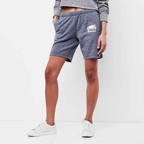 Roots-Women Shorts & Skirts-Longer Original Sweatshort-Cascade Blue Pepper-A