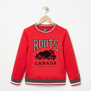 Roots-Kids Boys-Boys Sideline Crew-Racing Red-A