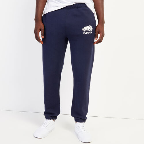Roots-Men Bottoms-Original Slim Sweatpant-Navy Blazer-A