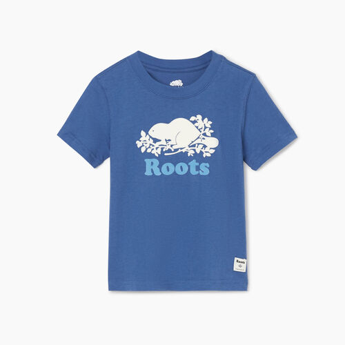 Roots-Kids Tops-Toddler Original Cooper Beaver T-shirt-True Navy-A