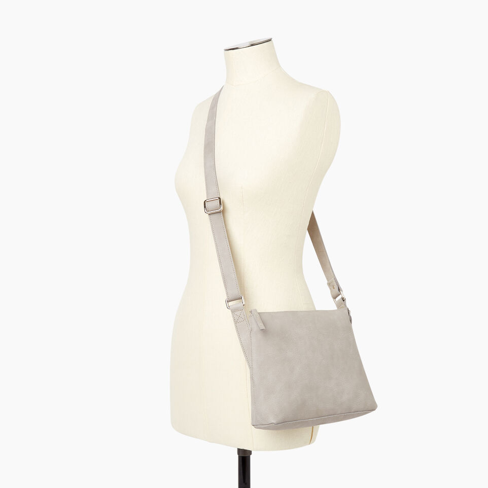 Roots-Women Leather-Journey Crossbody Tribe-Sterling Grey-B