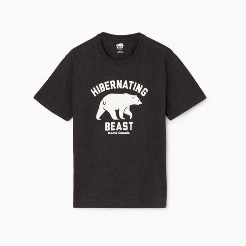 Roots-Men Our Favourite New Arrivals-Mens Hibernate T-shirt-Charcoal Mix-A