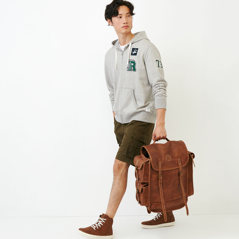Roots-Men Our Favourite New Arrivals-Badges Full Zip Hoody-Grey Mix Pepper-B