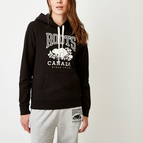 Roots-Women Categories-Classic Kanga Hoody-Black-A