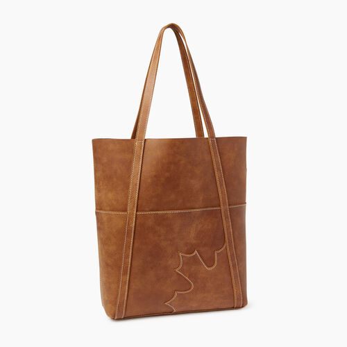 Roots-Leather  Handcrafted By Us Our Favourite New Arrivals-Trans Canada Tote-Natural-A