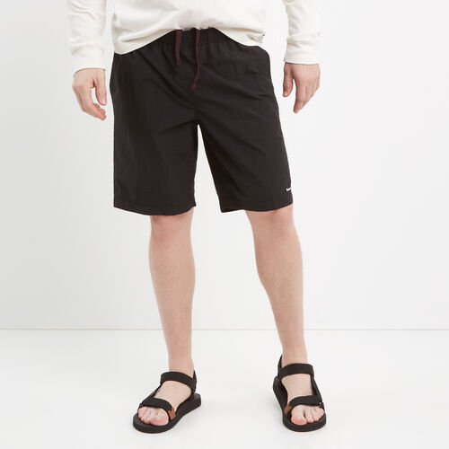 Roots-Men Shorts-Nylon Camp Shorts-Black-A