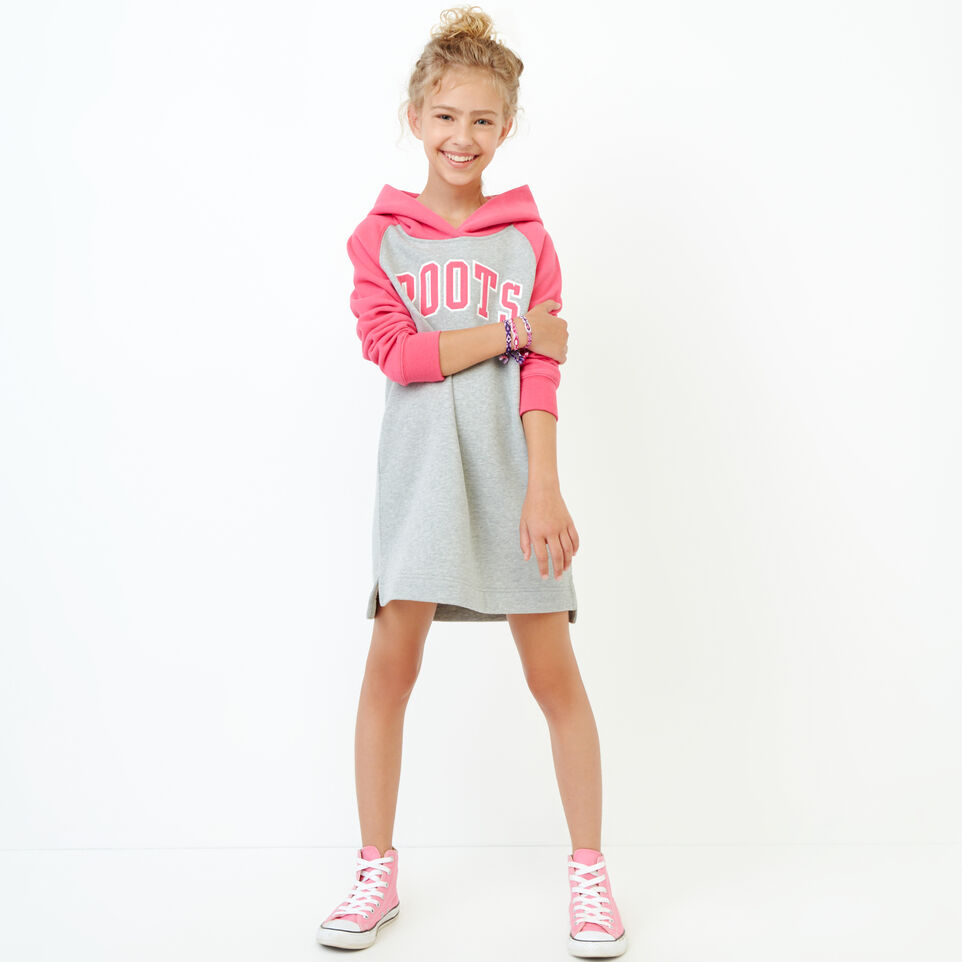 Roots-Clearance Kids-Girls 2.0 Hooded Dress-Grey Mix-A