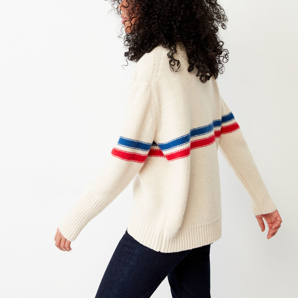 Roots-Women Our Favourite New Arrivals-Westwood V Neck Sweater-Light Fog-C