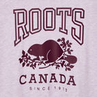 Roots-Women Clothing-Womens Classic Roots Canada T-shirt-Lupine Mix-D