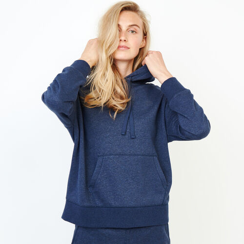 Roots-Clearance Women-Junction Hoody-Navy Blazer Mix-A
