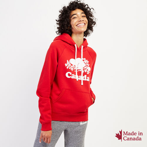 Roots-New For October Canada Collection By Roots™-Womens Cooper Canada Hoody-Sage Red-A