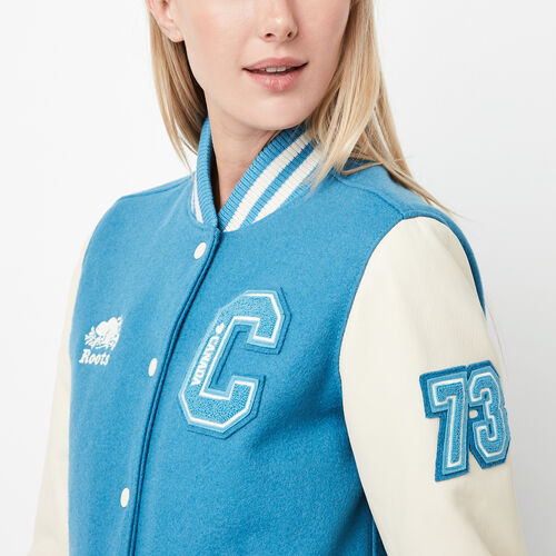 Roots-Sale Women-Award Jacket-Columbia Blue-A