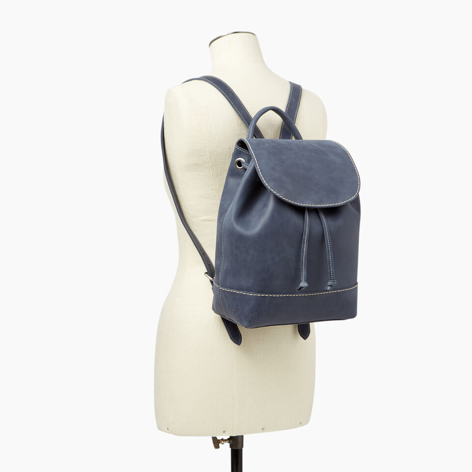 Roots-Leather Our Favourite New Arrivals-Sandbanks Pack-Navy-B