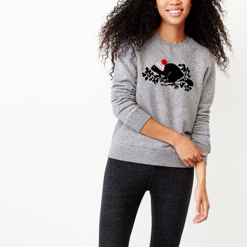 Roots-Women Our Favourite New Arrivals-Buddy Cozy Crew Sweatshirt-Salt & Pepper-A