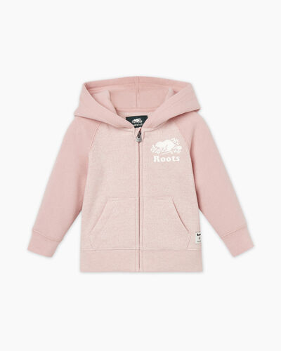 Roots-Sweats Sweatshirts And Hoodies-Baby Original Full Zip Hoody-Pale Mauve Pepper-A