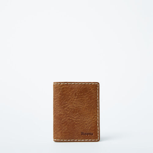Roots-Leather Women's Wallets-Card Case With Id-Natural-A