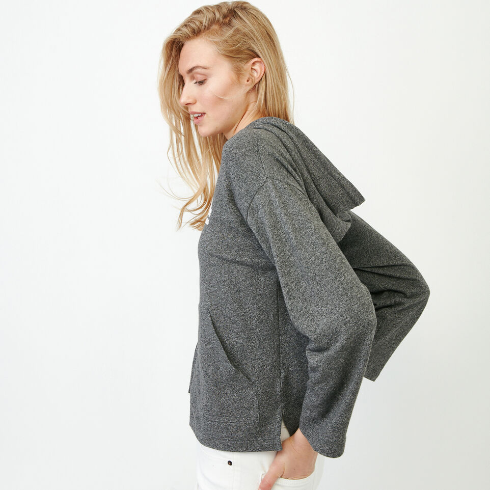 Roots-Women New Arrivals-Summerside Zip Hoody-Salt & Pepper-C