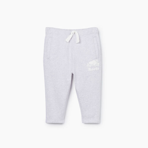 Roots-Kids Bottoms-Baby Easy Ankle Sweatpant-Wisteria Mix-A