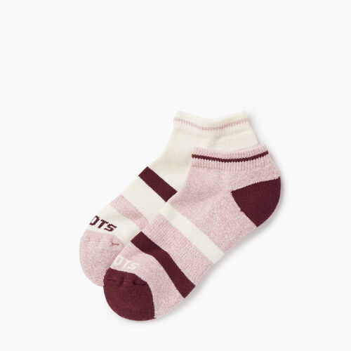 Roots-Women Socks-Womens Roots Sport Ped Sock 2 pack-Pink-A