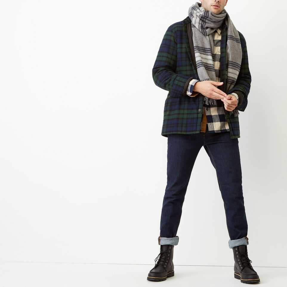 Roots-Winter Sale Men-Ossington Quilted Flannel Shirt-Green Gables-B