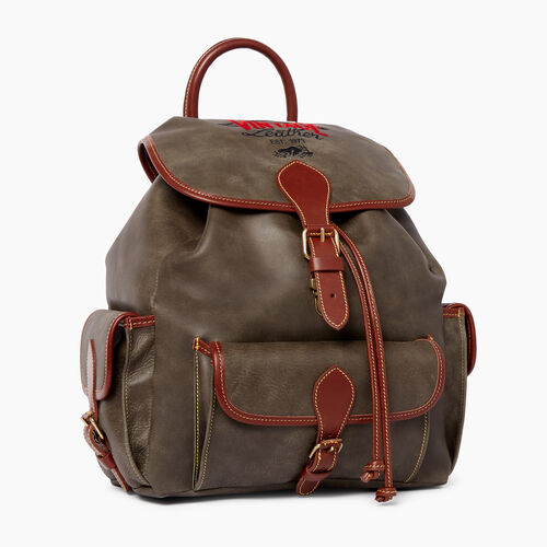 Roots-Leather  Handcrafted By Us Tribe Leather-Hiking Pack Patch Tribe-Pine-A