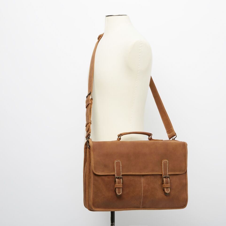 Roots-Leather Briefcases & Messengers-The Original Briefcase-Natural-B
