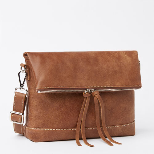 Roots-Leather  Handcrafted By Us Handbags-Emma Bag Tribe-Natural-A