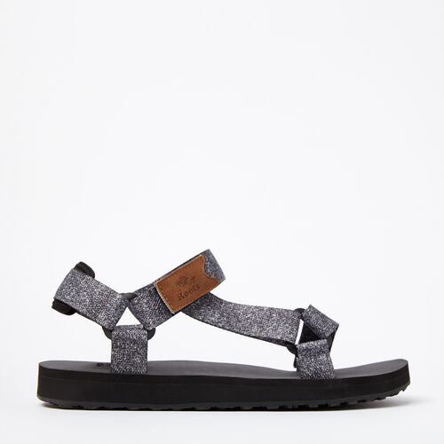 Roots-Winter Sale Footwear-Mens Tofino Sandal Web-Salt & Pepper-A