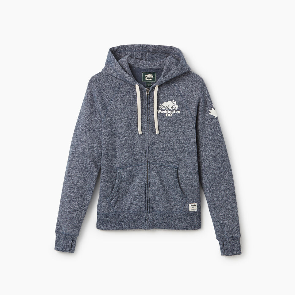 Roots-undefined-Washington DC Full Zip Hoody - Womens-undefined-A