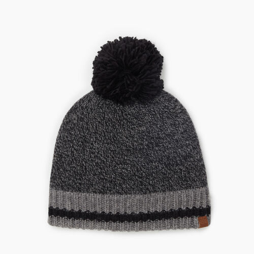 Roots-Women Accessories-Roots Cabin Pom Pom Toque-Black Mix-A