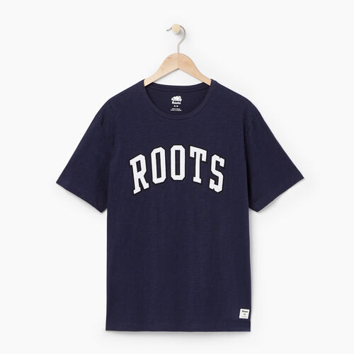 Roots-Men Our Favourite New Arrivals-Mens Roots Arch T-shirt-Navy Blazer-A