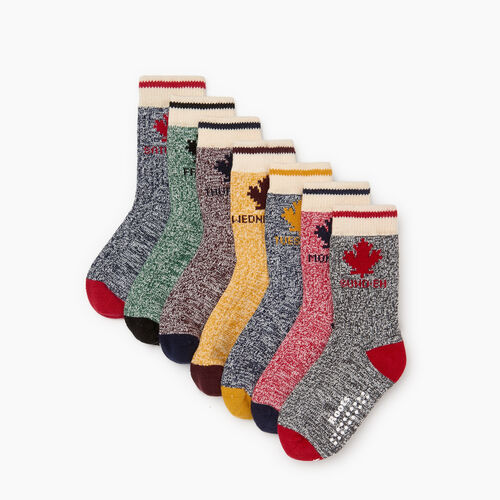 Roots-Kids Toddler Girls-Toddler Days Of The Week Sock 7 Pack-Multi-A