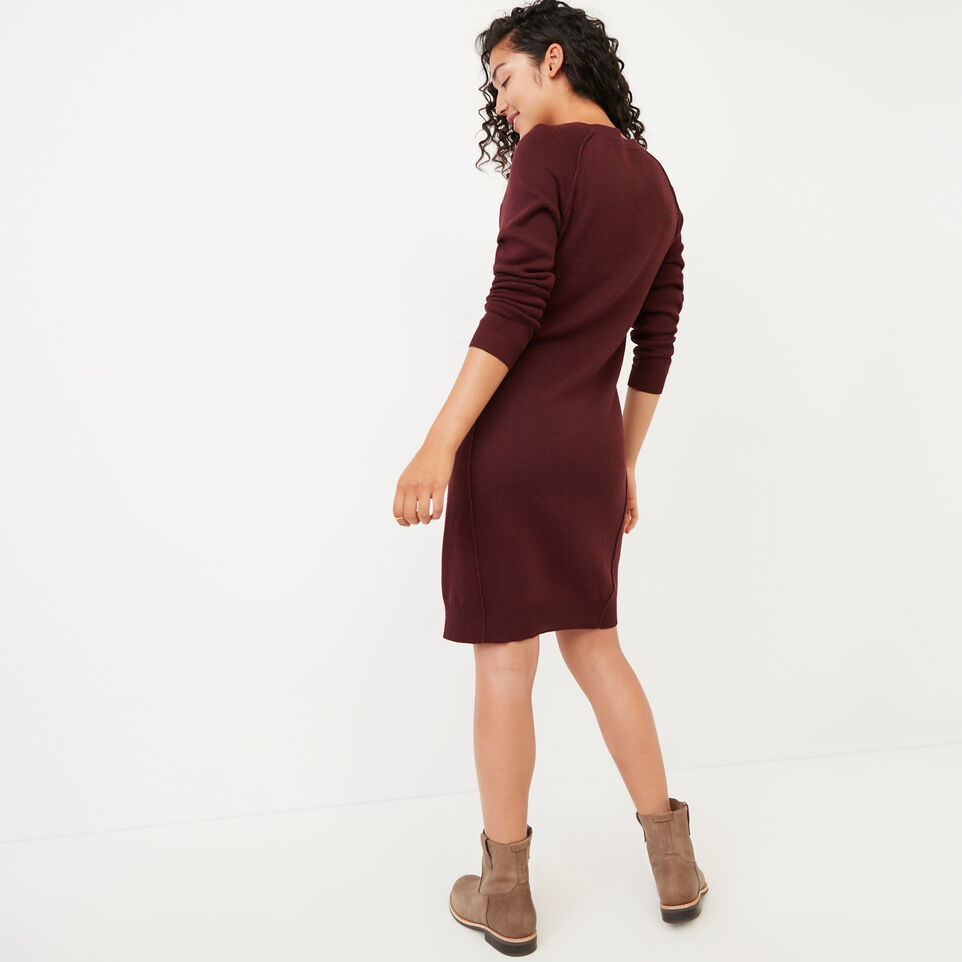 Roots-Women Clothing-Kemano Sweater Dress-Crimson-D
