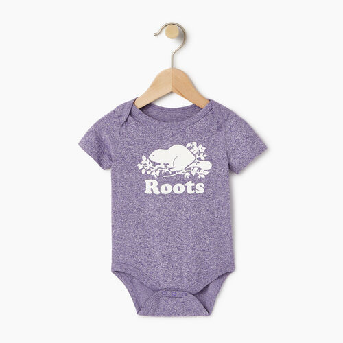 Roots-Kids Our Favourite New Arrivals-Baby Cooper Beaver Bodysuit-Violet Storm Mix-A