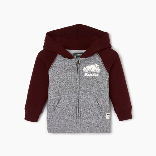 Roots-Kids Our Favourite New Arrivals-Baby Original Full Zip Hoody-Crimson-