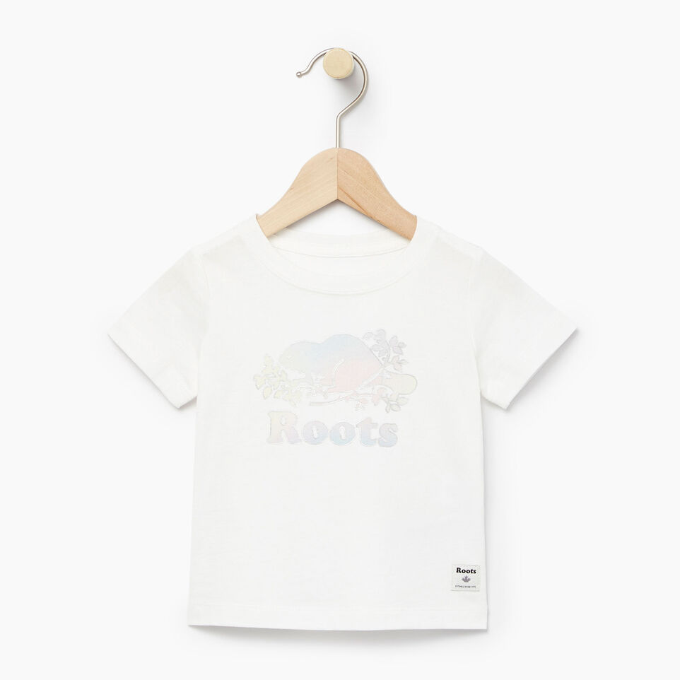 Roots-Kids Our Favourite New Arrivals-Baby Moonbeam T-shirt-Ivory-A