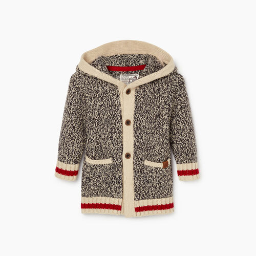 Roots-Kids Baby Girl-Baby Roots Cabin Cardigan-Grey Oat Mix-A