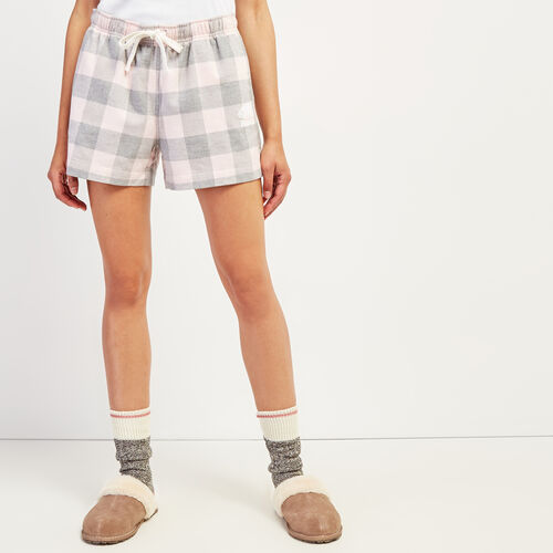 Roots-New For October Plaids-Park Plaid Lounge Short-Pink Mix-A