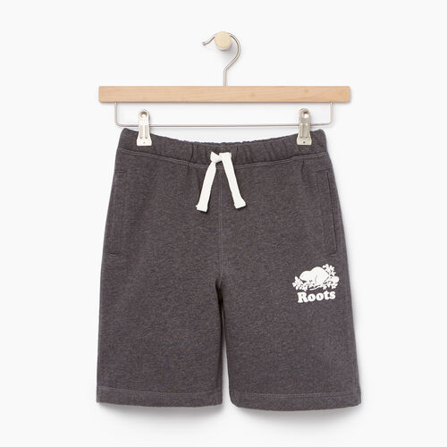 Roots-Kids Categories-Boys Original Short-Charcoal Mix-A