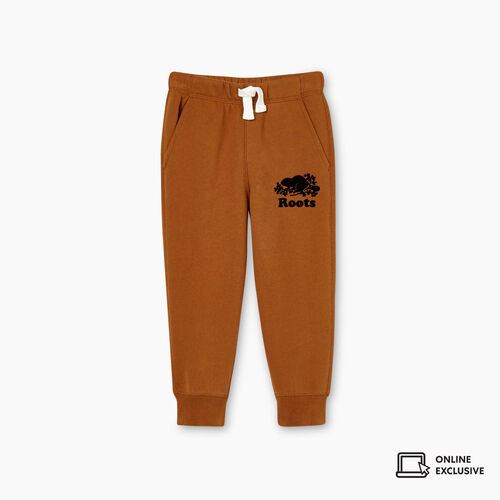Roots-Kids Bottoms-Toddler Park Slim Sweatpant-Treehouse Brown-A