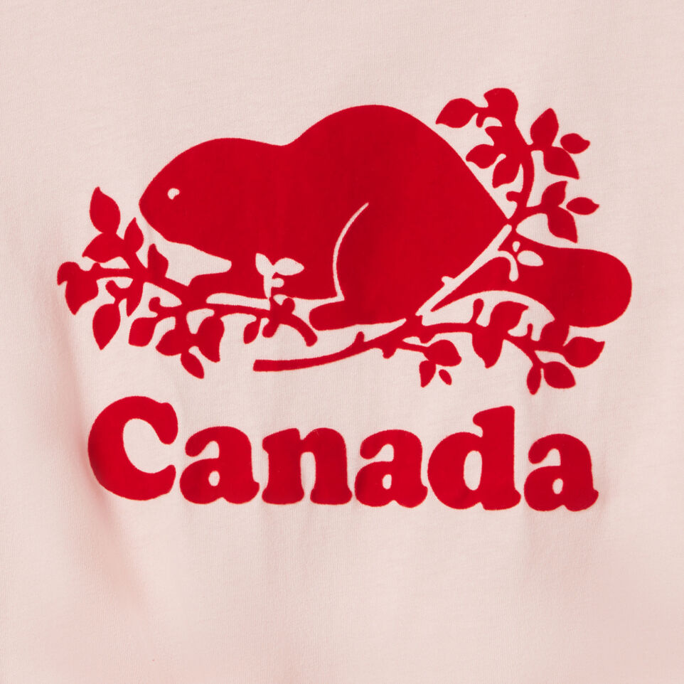 Roots-Kids New Arrivals-Girls Canada Tie T-shirt-English Rose-C
