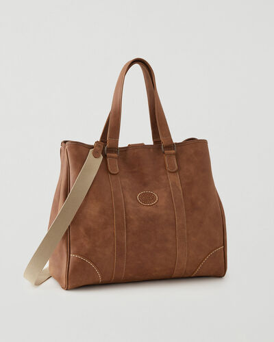 Roots-New For This Month Father's Day Gifts-Banff Tote Tribe-Natural-A