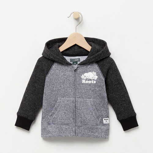 Roots-Clearance Kids-Baby Original Full Zip Hoody-Black Pepper-A